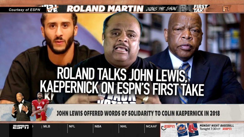Roland Talks John Lewis, Kaepernick On ESPN's First Take